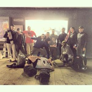 Before my first experience began. I was so lucky to be in this group of largely veterans of Goruck events.